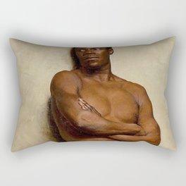 African-American Study of a Black man, A Portrait by Ernst Max Pietschmann Rectangular Pillow