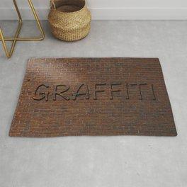 Anti Graffiti 3D Brick Wall Rug