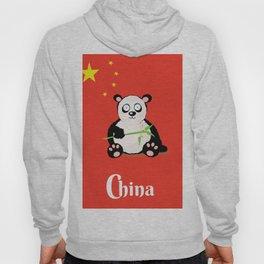 China Panda Cartoon poster Hoody