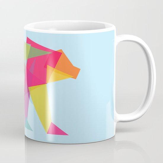 Fractal Bear - neon colorways Mug