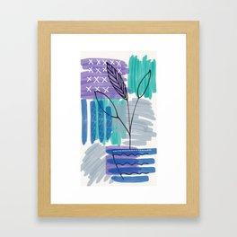 Abstract drawing Framed Art Print