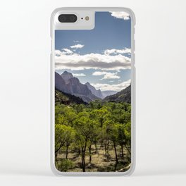 Lush Valley Clear iPhone Case