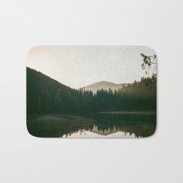 Morning lake Bath Mat