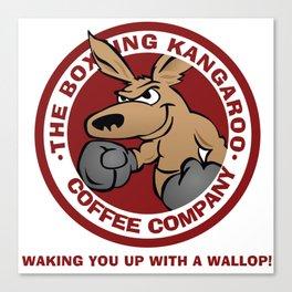 Boxing Kangaroo Coffee Company Canvas Print