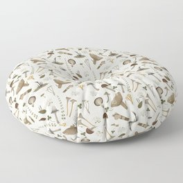 Northern forest (white) Floor Pillow