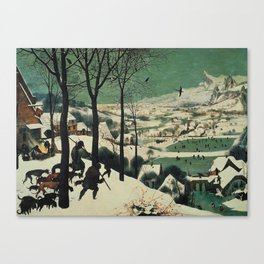 HUNTERS IN THE SNOW - BRUEGEL Canvas Print