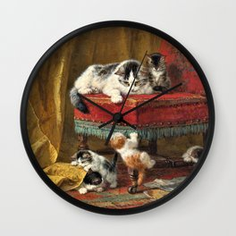 Henriette Ronner-Knip - Mother's Pride - Digital Remastered Edition Wall Clock