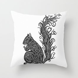 Shiny Squirrel Throw Pillow