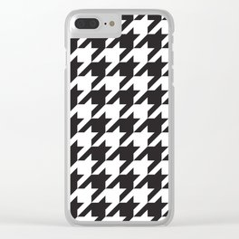 Houndstooth (Black and White) Clear iPhone Case