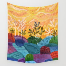 on and on fields Wall Tapestry
