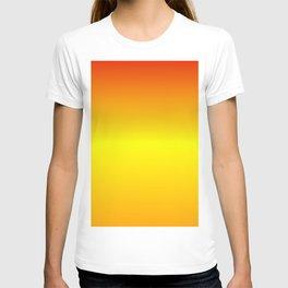 Horizontal Red, Yellow and Orange Gradient T-shirt