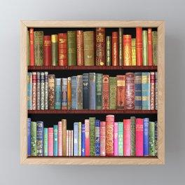Vintage books ft Jane Austen & more Framed Mini Art Print