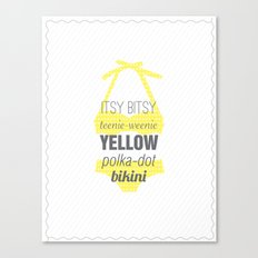 Yellow Polka Dot Bikini Canvas Print