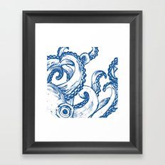 Blue Octopus Framed Art Print
