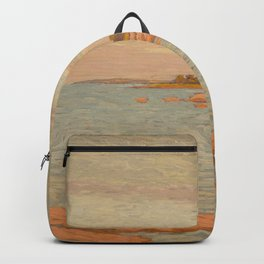 New London Connecticut Lighthouse by William Anderson Coffin Backpack