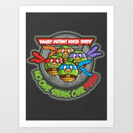 Angry Mutant Ninja Birds Art Print
