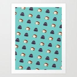 Reylo Pattern - turquoise Art Print
