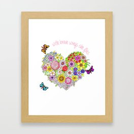 With brave wings, she flies Framed Art Print