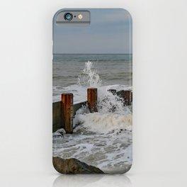 High tide on Cart Gap Beach iPhone Case