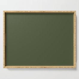 Chive Green 4A5335 Spring Summer Solid Color Block Serving Tray