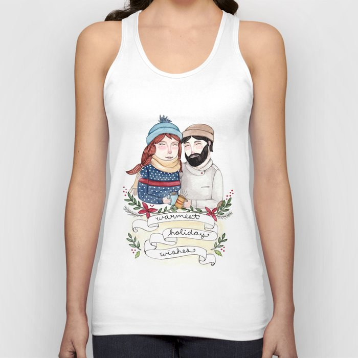 Warmest Holiday Wishes Unisex Tank Top