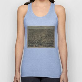 Vintage Pictorial Map of Akron Ohio (1870) Unisex Tank Top