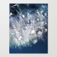 New Year's Blue Champagne Canvas Print