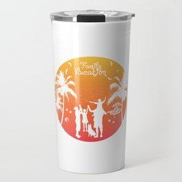 Summer Family Vacation Sunset Beach Travel Mug