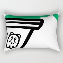 Crude Melted Chilly Bear Rectangular Pillow