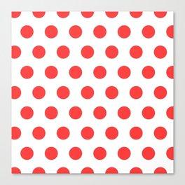 red polka dots Canvas Print