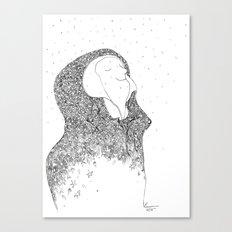 Snow, you calm me. Canvas Print