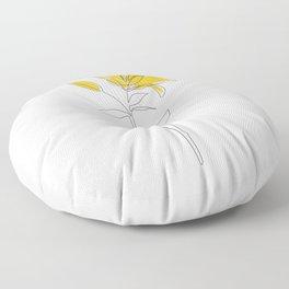 Mustard Lily Floor Pillow