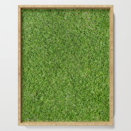 Green Grass by Silvana Arias Serving Tray