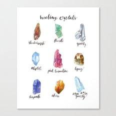 Healing Crystals Canvas Print