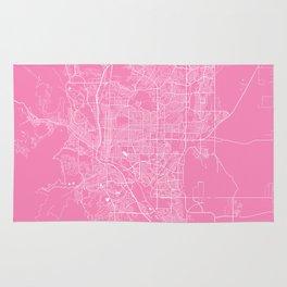 Colorado springs map pink Rug