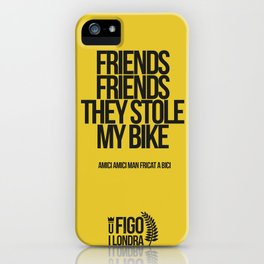 AMICI AMICI M'HANN ARROBAT A BICI iPhone Case