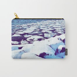 Snowy Waterfront Carry-All Pouch