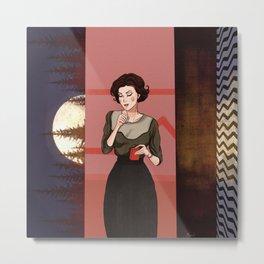 Smoking Audrey Horne Metal Print