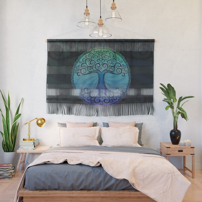 Tree of Life - Cool Blue Wall Hanging