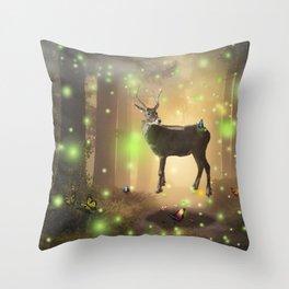 The Magic Deer by GEN Z Throw Pillow