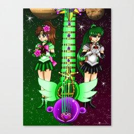 Fusion Sailor Moon Guitar #35 - Sailor Jupiter & Sailor Pluto Canvas Print