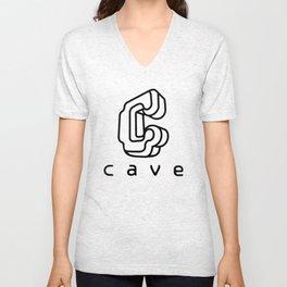 Cave Co. Black Unisex V-Neck