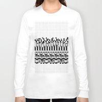 notebook Long Sleeve T-shirts featuring School notebook 2 by Eva Bellanger