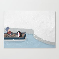 Reaching the South Pole Canvas Print