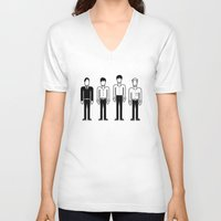 joy division V-neck T-shirts featuring Joy Division by Band Land