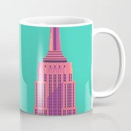 Empire State Building New York Art Deco - Green Coffee Mug