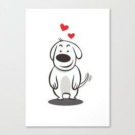 MY FUNNY DOG Canvas Print