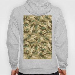 Camouflage Dinosaur Print Olive Green Khaki Tan Hoody