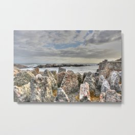 Sunset at shore Metal Print