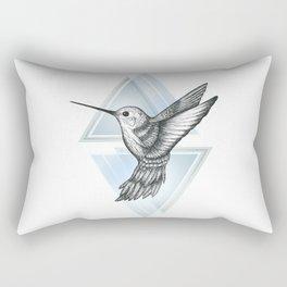 Hummingbird - Blue Rectangular Pillow